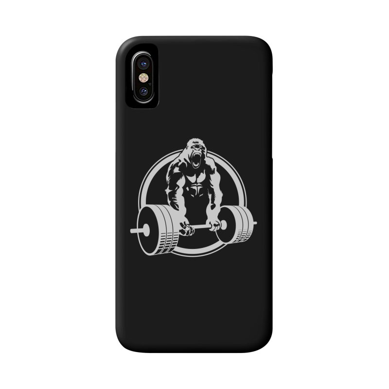 Gorilla Lifting Fitness Gym Tee Accessories Phone Case by carlhuber's Artist Shop