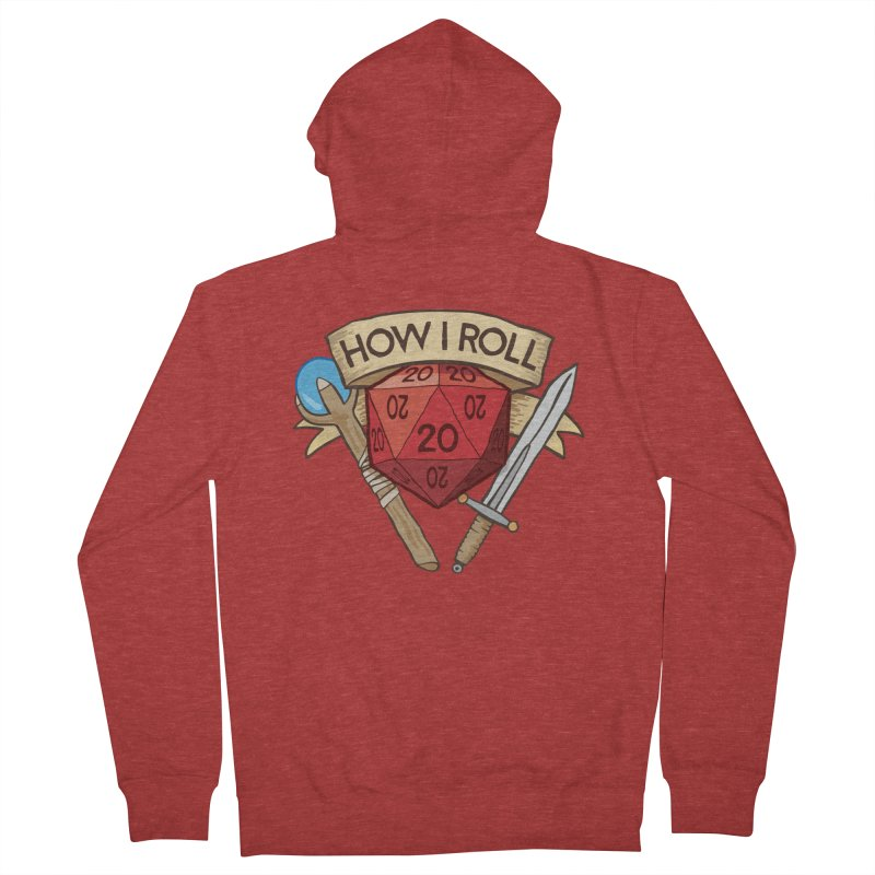 How I Roll Dungeons and Dragons Dice d20 Men's Zip-Up Hoody by carlhuber's Artist Shop