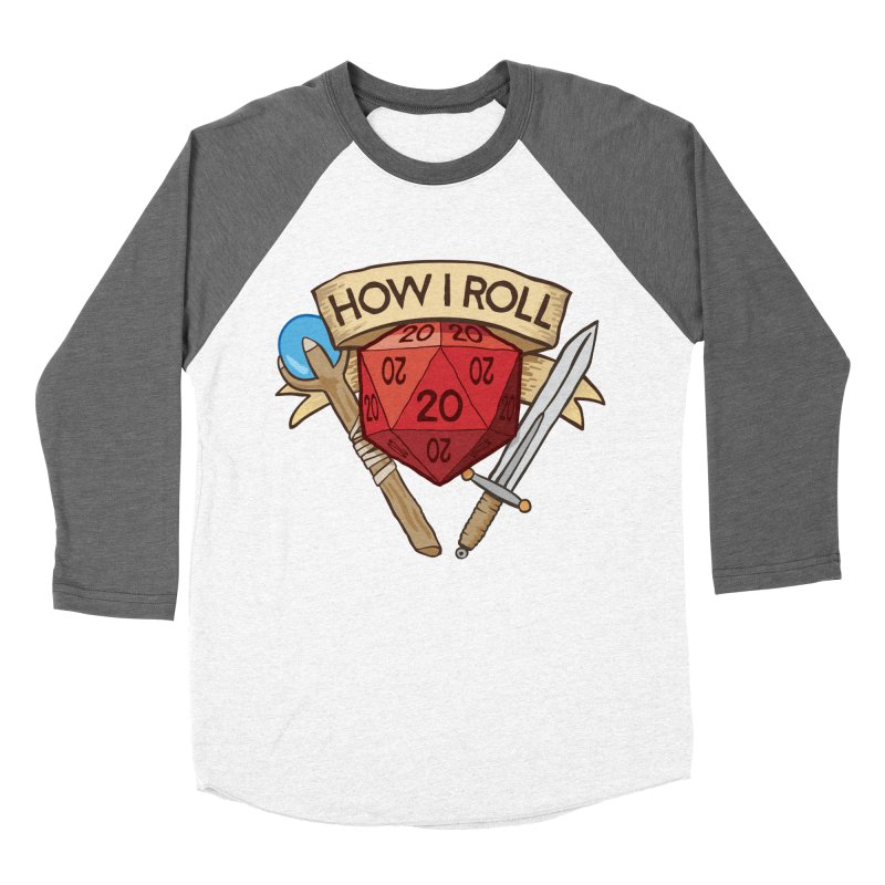 How I Roll Dungeons and Dragons Dice d20 Men's Baseball Triblend T-Shirt by carlhuber's Artist Shop