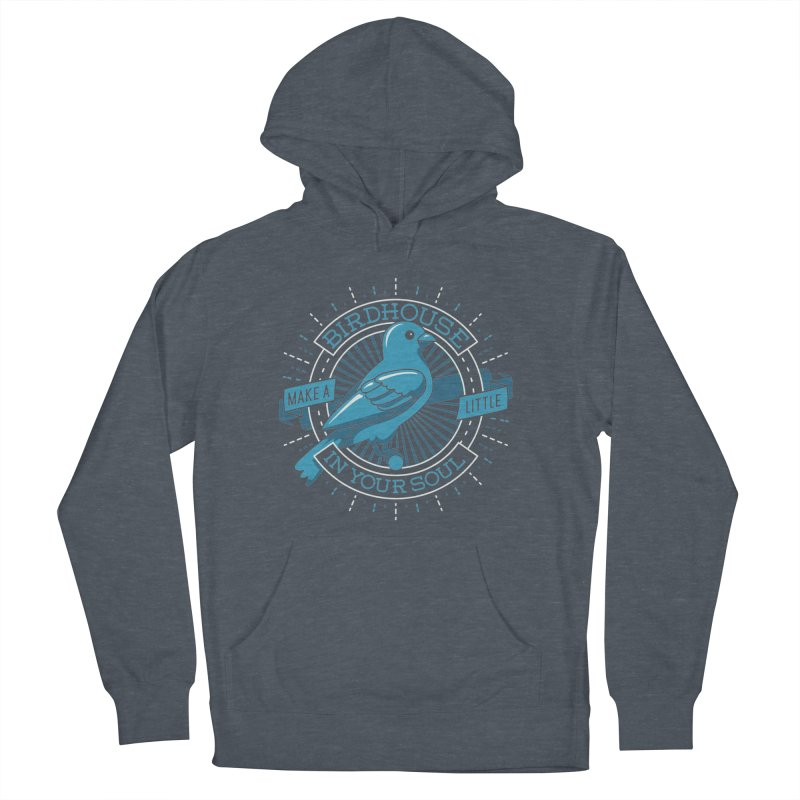 Blue Canary in the Birdhouse in your Soul Men's Pullover Hoody by carlhuber's Artist Shop