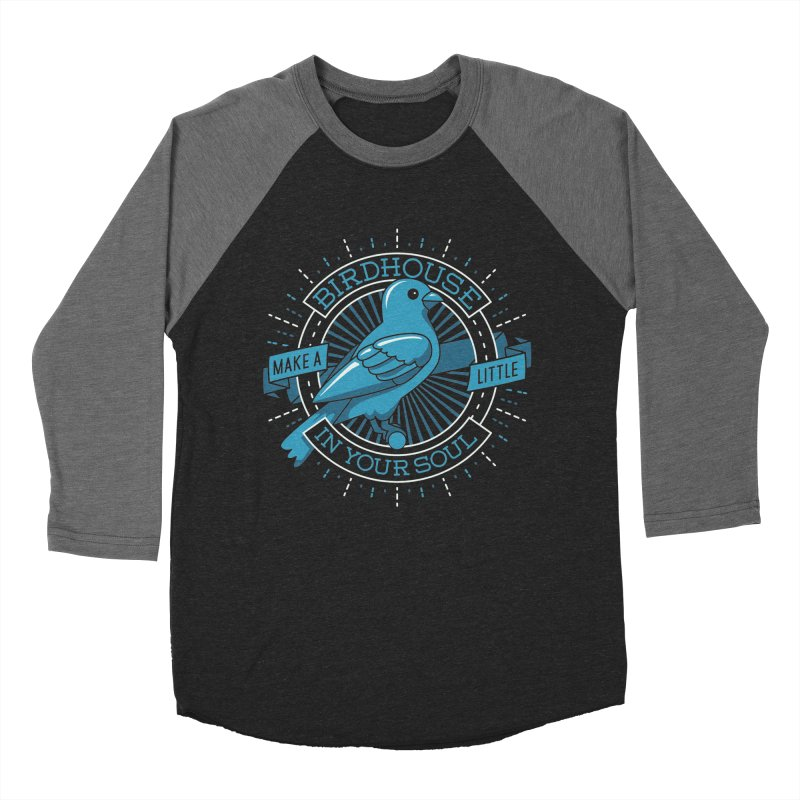 Blue Canary in the Birdhouse in your Soul Men's Baseball Triblend T-Shirt by carlhuber's Artist Shop
