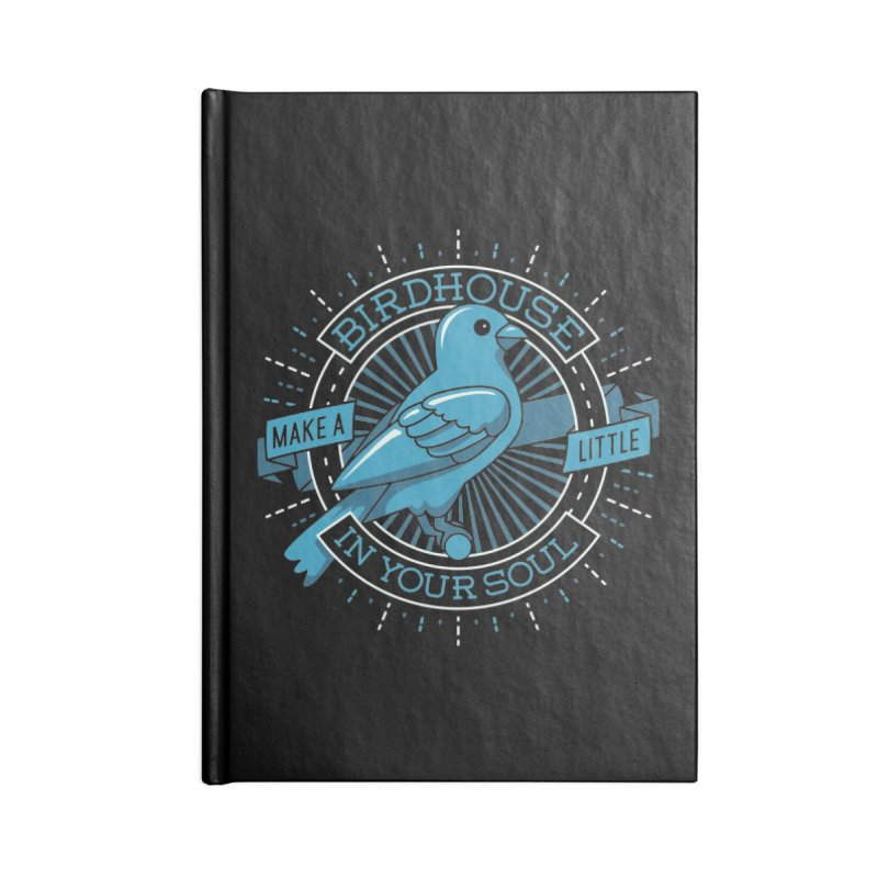 Blue Canary in the Birdhouse in your Soul Accessories Notebook by carlhuber's Artist Shop