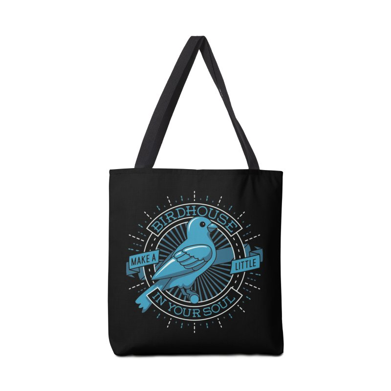 Blue Canary in the Birdhouse in your Soul Accessories Bag by carlhuber's Artist Shop