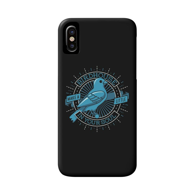 Blue Canary in the Birdhouse in your Soul Accessories Phone Case by carlhuber's Artist Shop