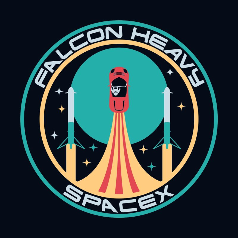 Falcon Heavy SpaceX by Carl Huber's Artist Shop