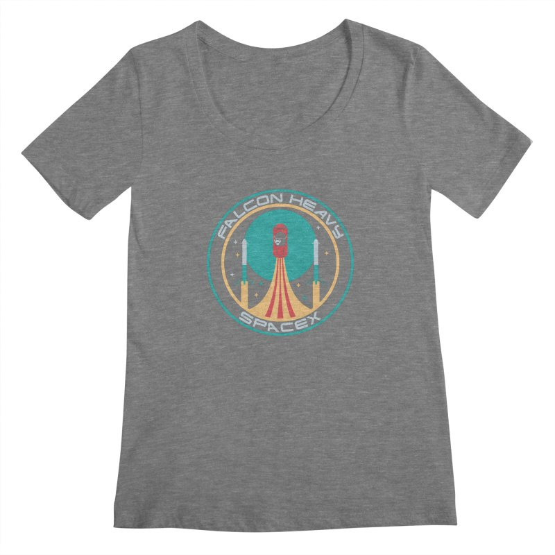 Falcon Heavy SpaceX Women's Scoopneck by carlhuber's Artist Shop