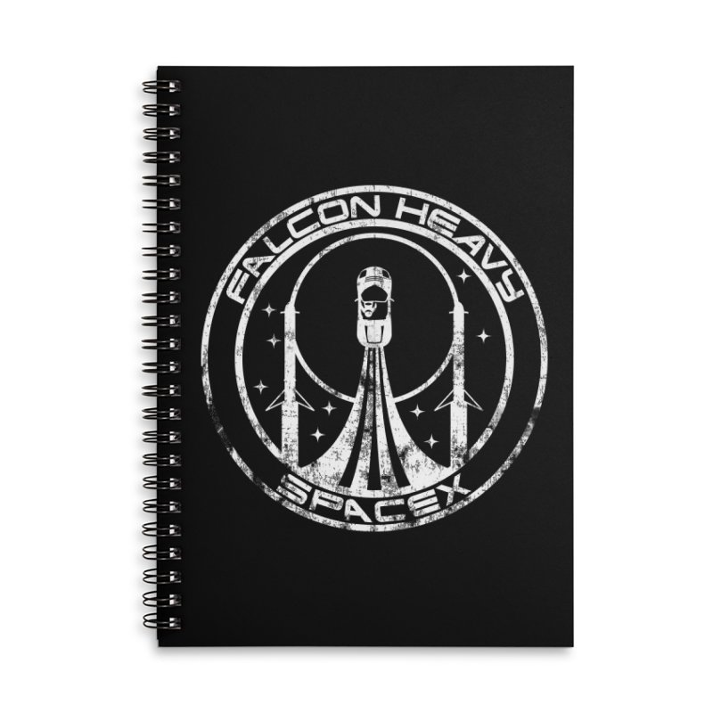 SpaceX Falcon Heavy Accessories Notebook by carlhuber's Artist Shop