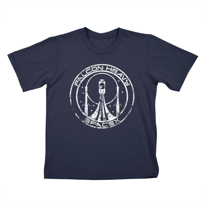 SpaceX Falcon Heavy Kids T-Shirt by Carl Huber's Artist Shop