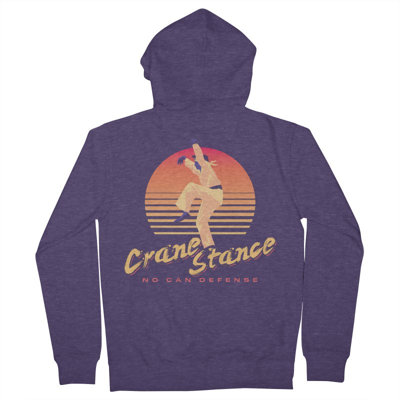 Karate Kid Synthwave - No Can Defense Men's French Terry Zip-Up Hoody by carlhuber's Artist Shop