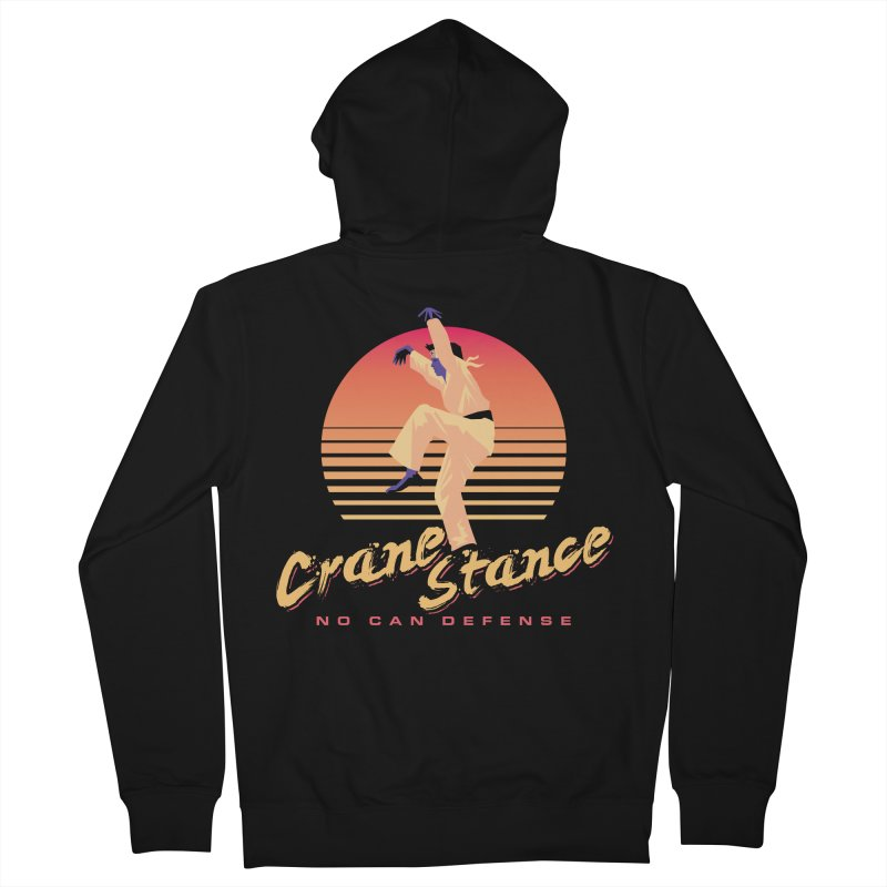 Karate Kid Synthwave - No Can Defense Men's Zip-Up Hoody by carlhuber's Artist Shop
