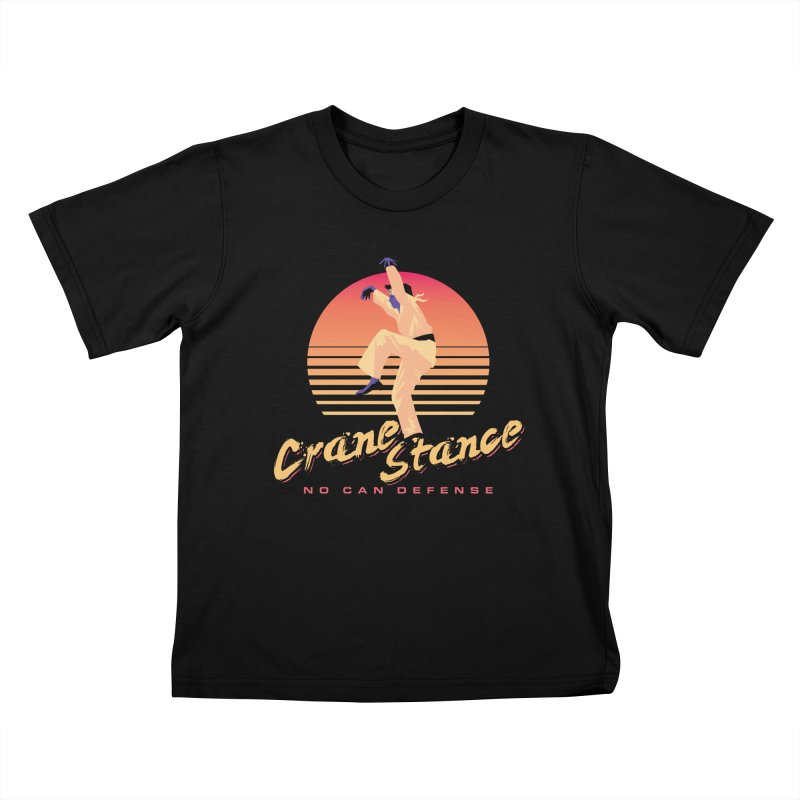 Karate Kid Synthwave - No Can Defense Kids T-Shirt by Carl Huber's Artist Shop