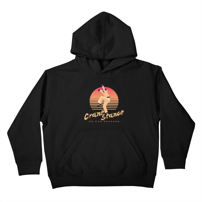 Karate Kid Synthwave - No Can Defense Kids Pullover Hoody by carlhuber's Artist Shop