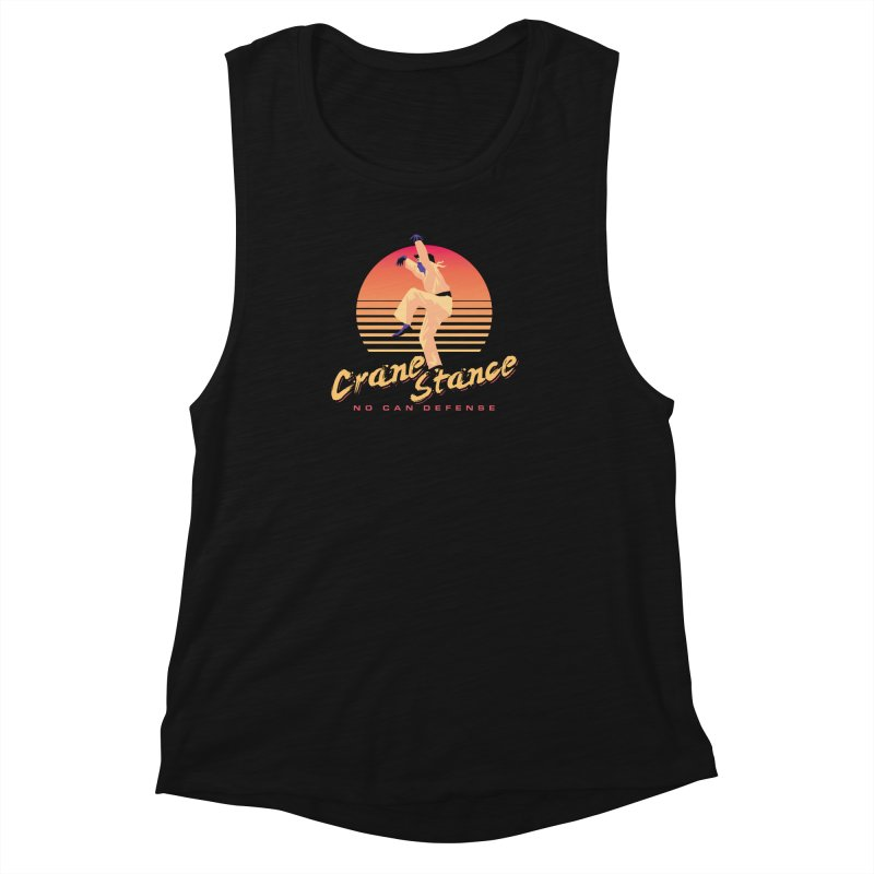 Karate Kid Synthwave - No Can Defense Women's Muscle Tank by carlhuber's Artist Shop