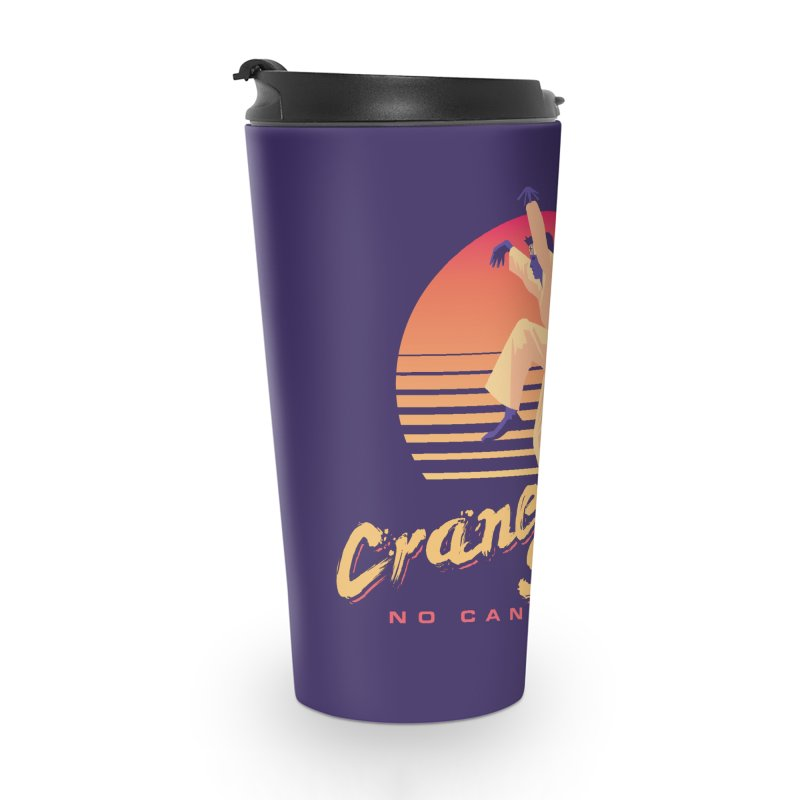 Karate Kid Synthwave - No Can Defense Accessories Travel Mug by Carl Huber's Artist Shop