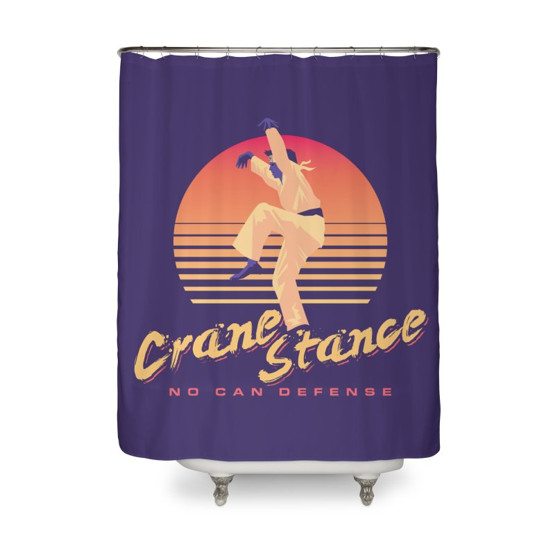 Karate Kid Synthwave - No Can Defense Home Shower Curtain by carlhuber's Artist Shop
