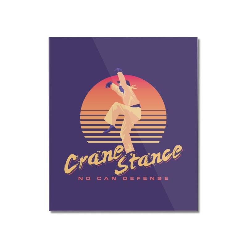 Karate Kid Synthwave - No Can Defense Home Mounted Acrylic Print by carlhuber's Artist Shop
