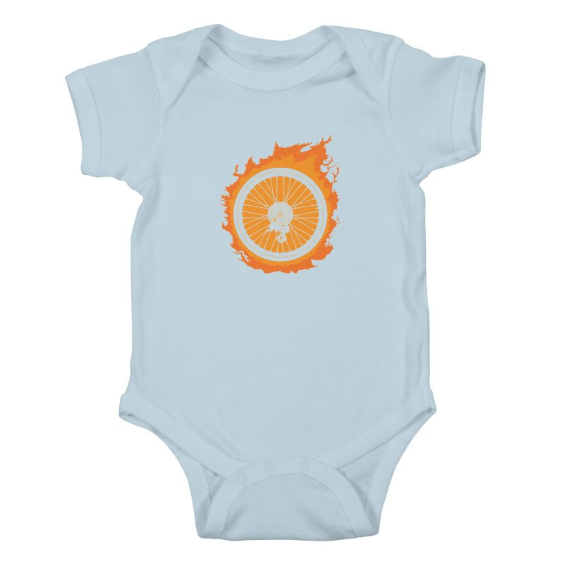 Bike Fire Kids Baby Bodysuit by carlhuber's Artist Shop
