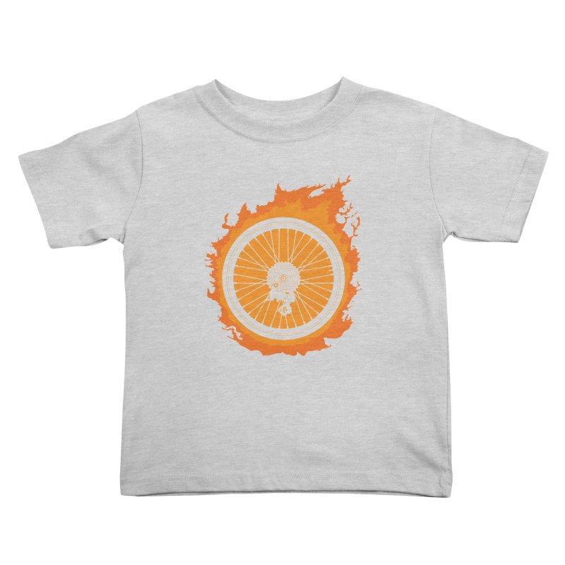 Bike Fire Kids Toddler T-Shirt by Carl Huber's Artist Shop