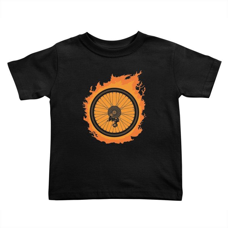 Bike Fire Kids Toddler T-Shirt by carlhuber's Artist Shop