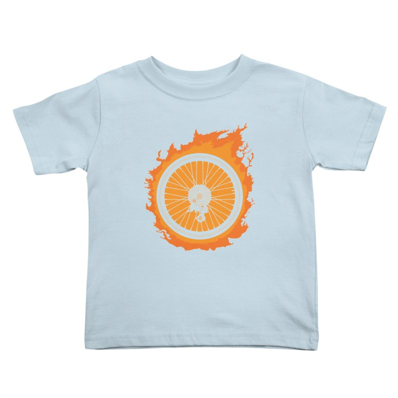 Bike Fire Kids Toddler T-Shirt by Carl Huber's Artist Shop