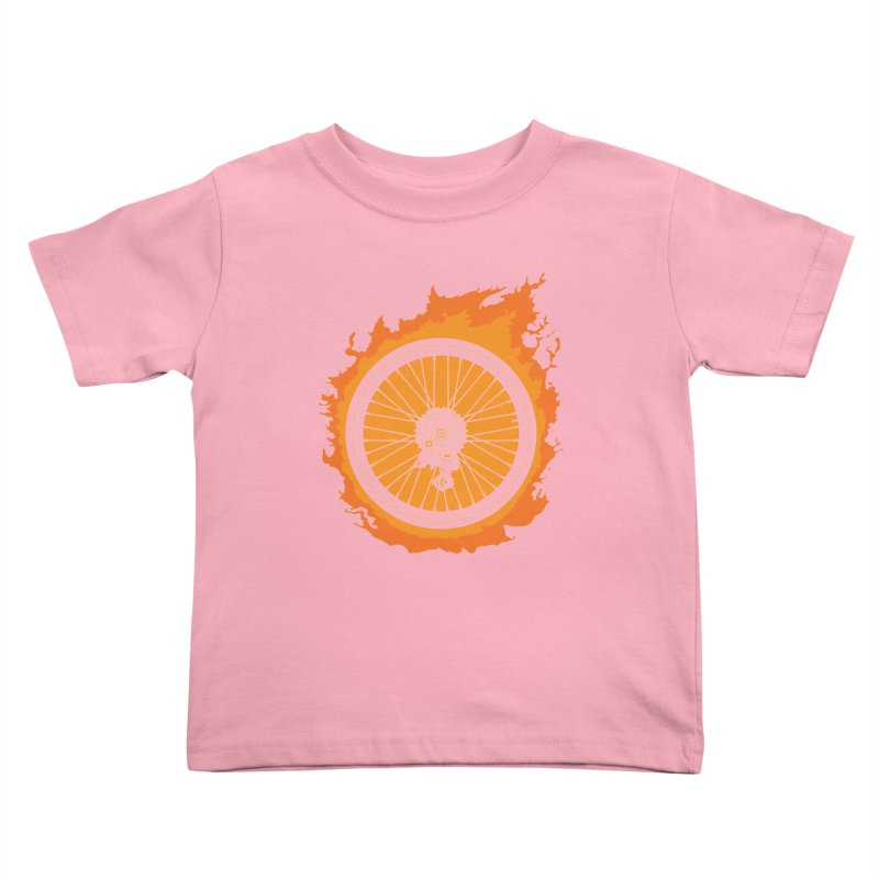 Bike Fire Kids Toddler T-Shirt by carlhuber's Artist Shop