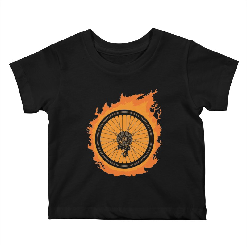 Bike Fire Kids Baby T-Shirt by carlhuber's Artist Shop