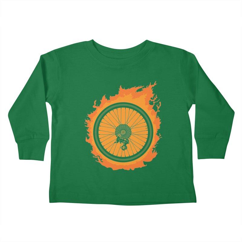 Bike Fire Kids Toddler Longsleeve T-Shirt by carlhuber's Artist Shop