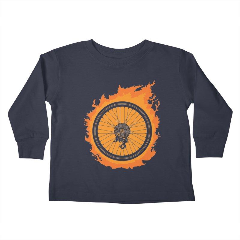 Bike Fire Kids Toddler Longsleeve T-Shirt by Carl Huber's Artist Shop