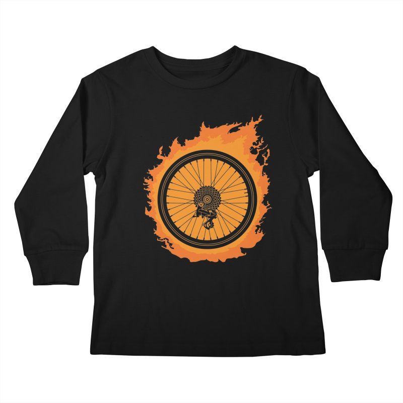 Bike Fire Kids Longsleeve T-Shirt by carlhuber's Artist Shop