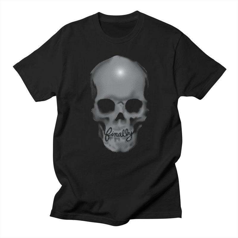 Finally Skull Men's T-Shirt by carlhuber's Artist Shop