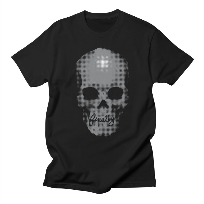 Finally Skull in Men's Regular T-Shirt Black by Carl Huber's Artist Shop
