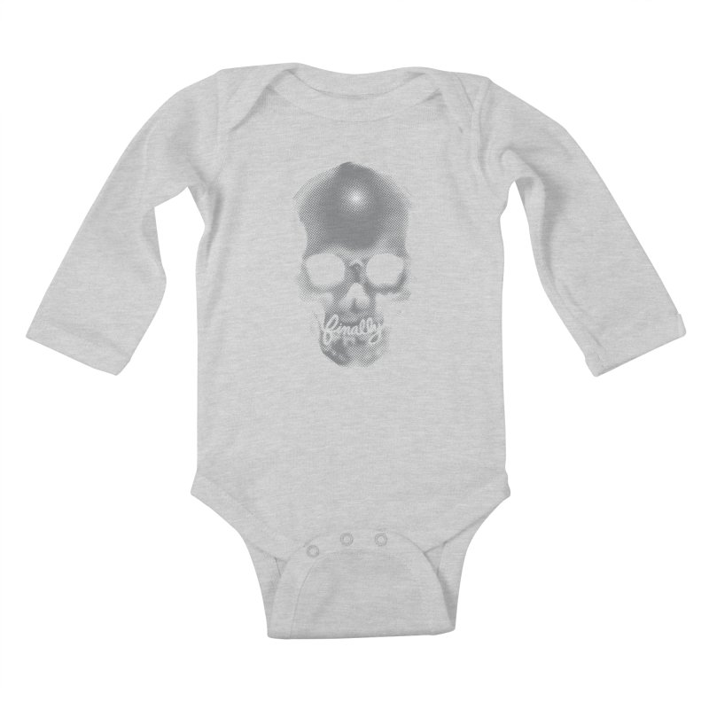 Finally Skull Kids Baby Longsleeve Bodysuit by carlhuber's Artist Shop