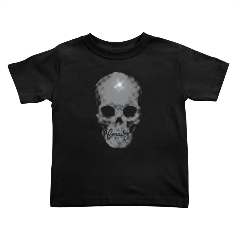 Finally Skull Kids Toddler T-Shirt by Carl Huber's Artist Shop