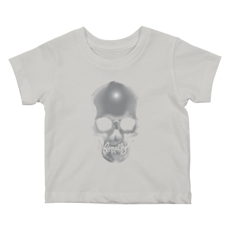 Finally Skull Kids Baby T-Shirt by carlhuber's Artist Shop