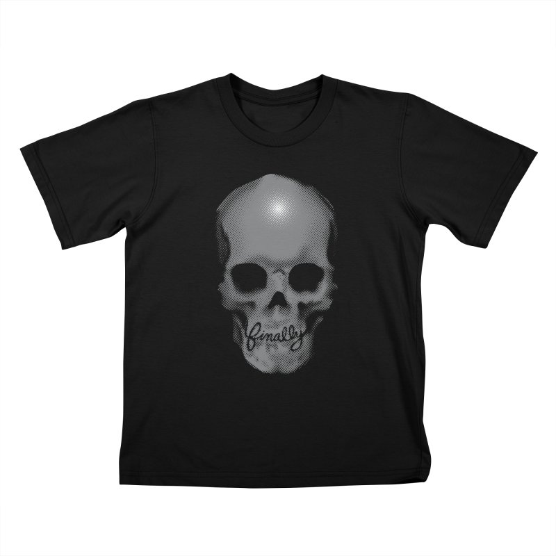 Finally Skull Kids T-Shirt by carlhuber's Artist Shop