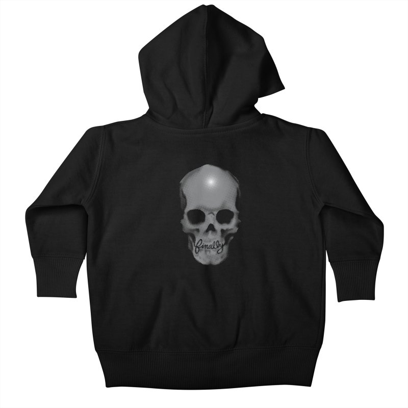 Finally Skull Kids Baby Zip-Up Hoody by carlhuber's Artist Shop
