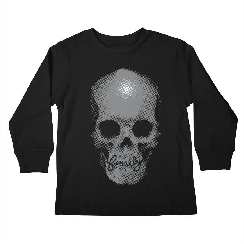 Finally Skull Kids Longsleeve T-Shirt by Carl Huber's Artist Shop
