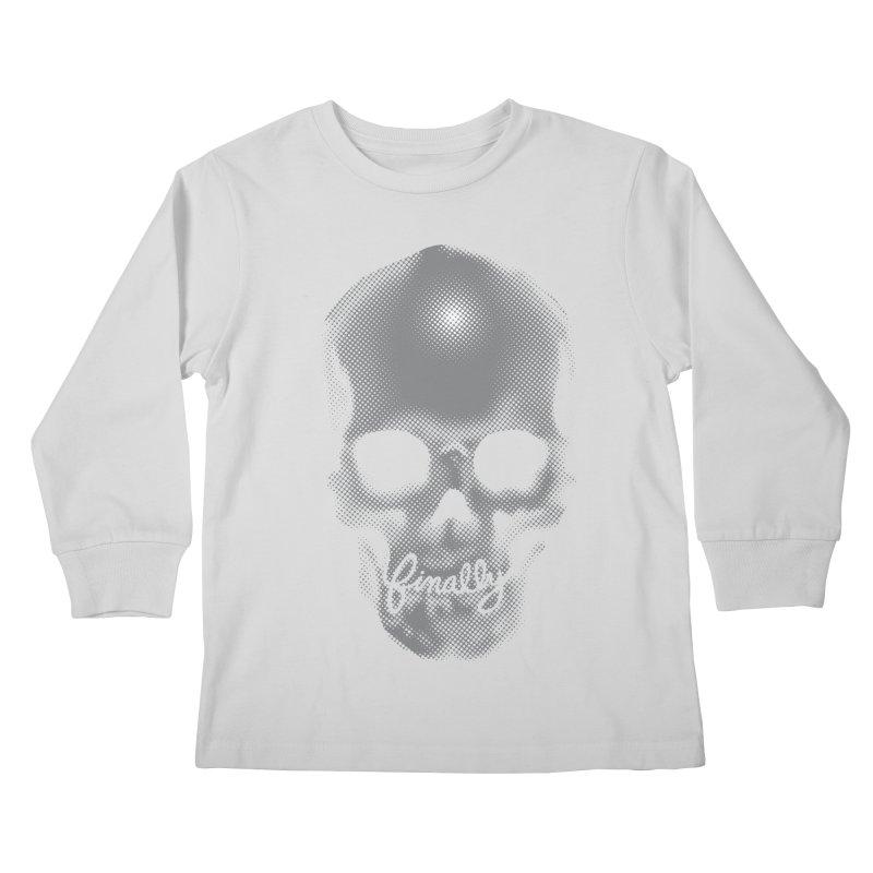 Finally Skull Kids Longsleeve T-Shirt by carlhuber's Artist Shop