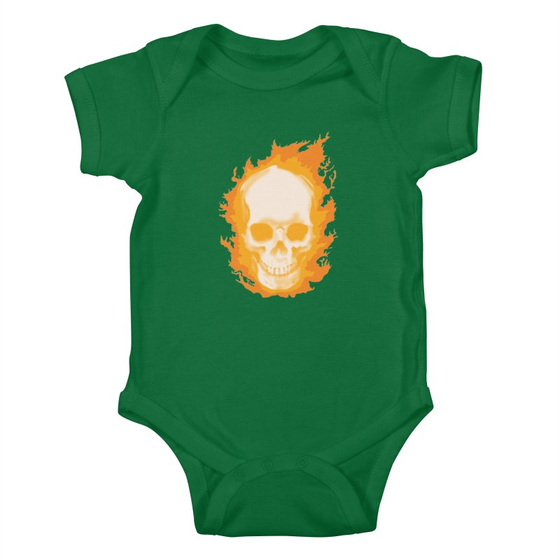 Ghost Skull Kids Baby Bodysuit by carlhuber's Artist Shop