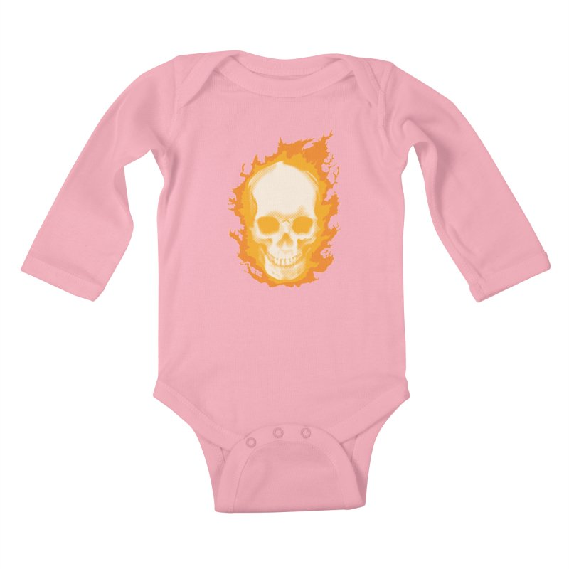 Ghost Skull Kids Baby Longsleeve Bodysuit by Carl Huber's Artist Shop