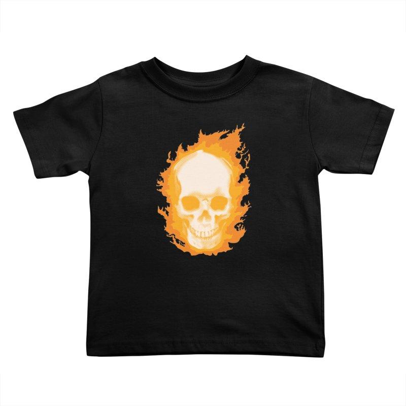 Ghost Skull Kids Toddler T-Shirt by Carl Huber's Artist Shop