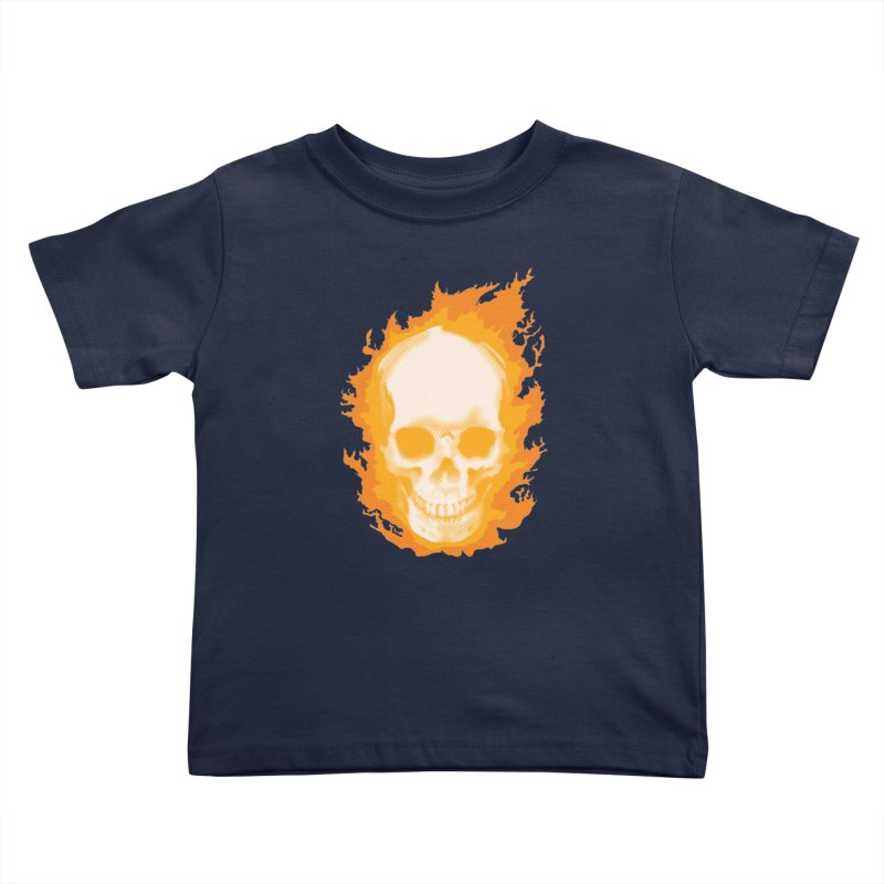 Ghost Skull Kids Toddler T-Shirt by carlhuber's Artist Shop