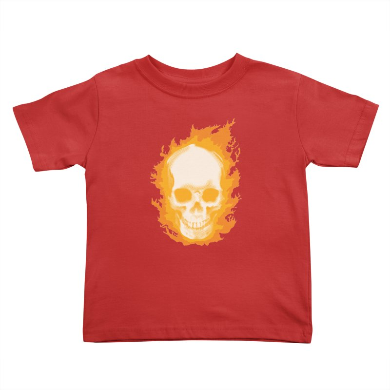 Ghost Skull Kids Toddler T-Shirt by Carl Huber's Artist Shop