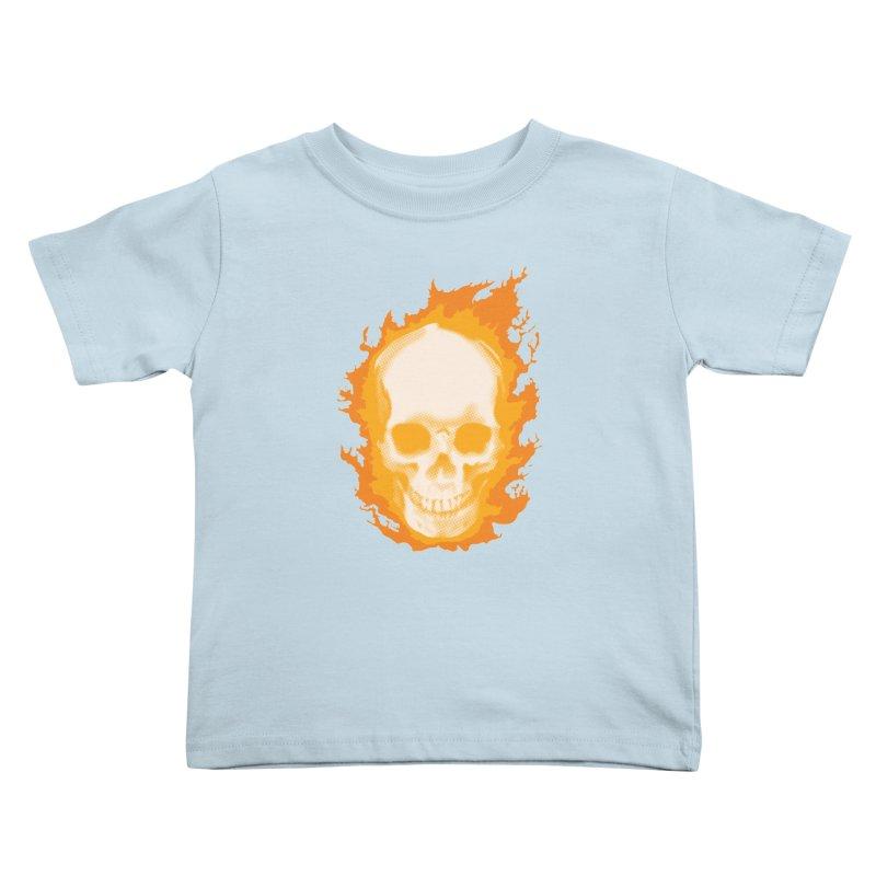 Ghost Skull Kids Toddler T-Shirt by carlhuber's Artist Shop