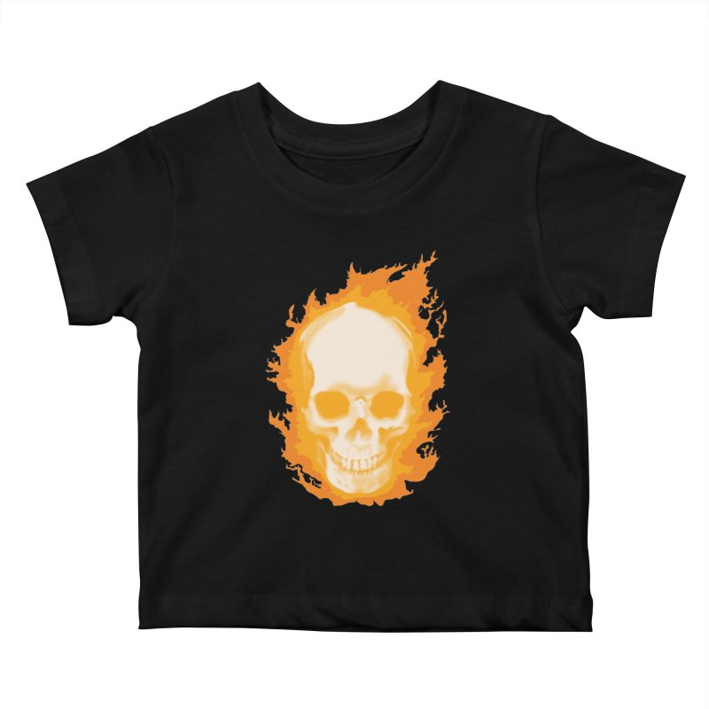 Ghost Skull Kids Baby T-Shirt by carlhuber's Artist Shop