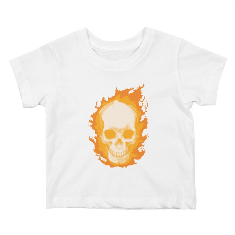 Ghost Skull Kids Baby T-Shirt by Carl Huber's Artist Shop