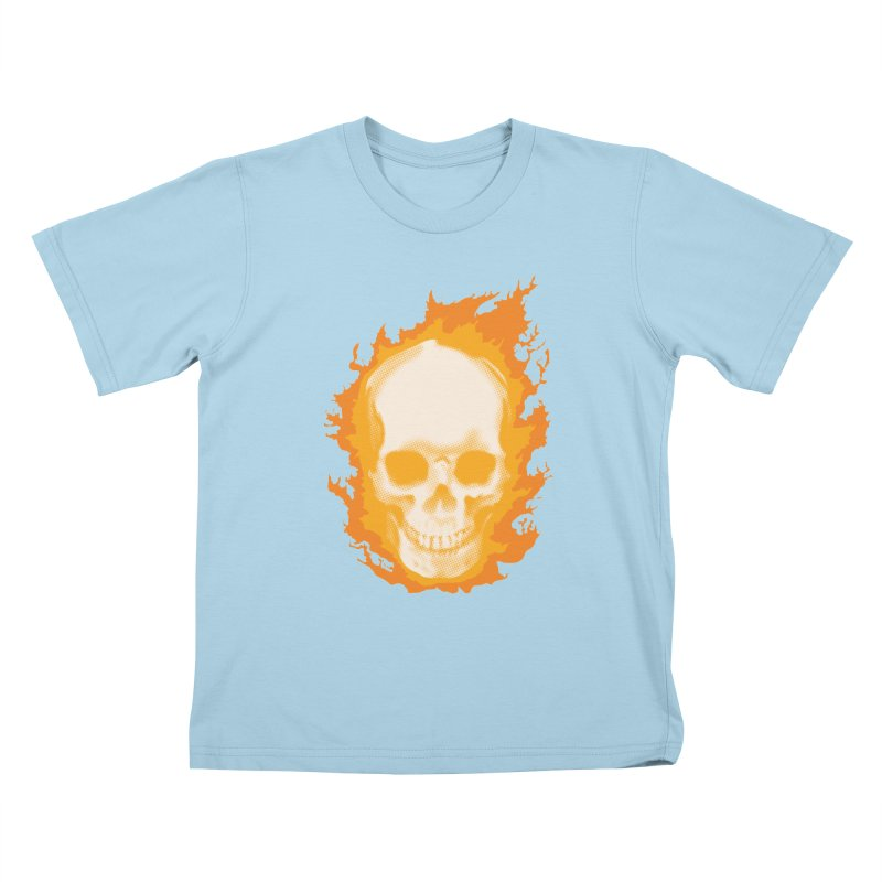 Ghost Skull Kids T-Shirt by carlhuber's Artist Shop