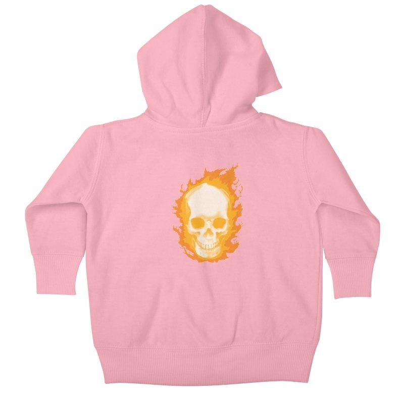 Ghost Skull Kids Baby Zip-Up Hoody by Carl Huber's Artist Shop