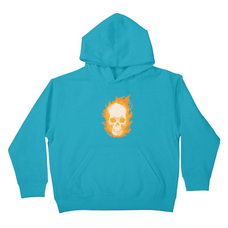 Ghost Skull Kids Pullover Hoody by Carl Huber's Artist Shop