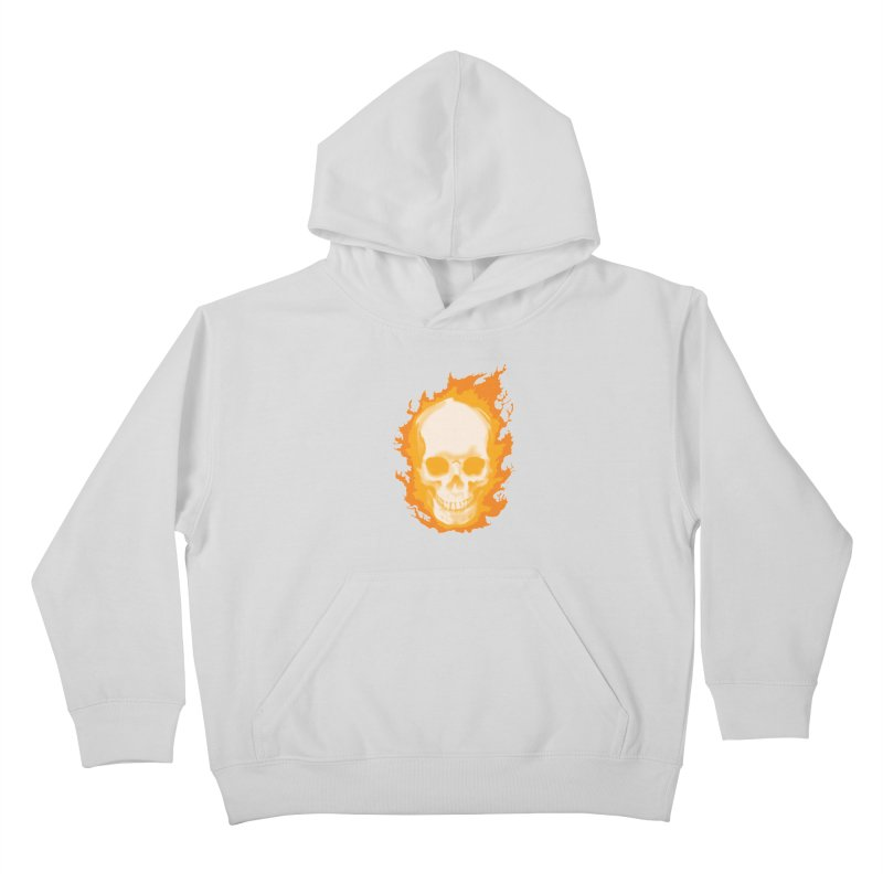 Ghost Skull Kids Pullover Hoody by Carl Huber's Artist Shop